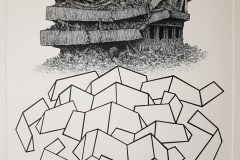 Edvin Dragičević - Subterraneus I; bakropis papir, 700x500mm, ploča 400x304mm, 2019.
