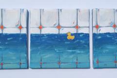 Marina Đira - Zatvoreno more; akril na platnu (triptih), 60x20cm, 2020.