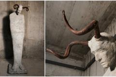 Karlo Ris - Kognitivna distorzija; beton, kovano željezo, 160x40x40cm, 2017.