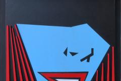 Danijel Babić - Under The Mask; kombinirana tehnika, 56x42cm, 2020.