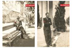 Hrvoje Zuanić - K plus pozitivan 1938.; digitalna intervencija na analognoj fotografiji (diptih), 70x50cm, 2020.